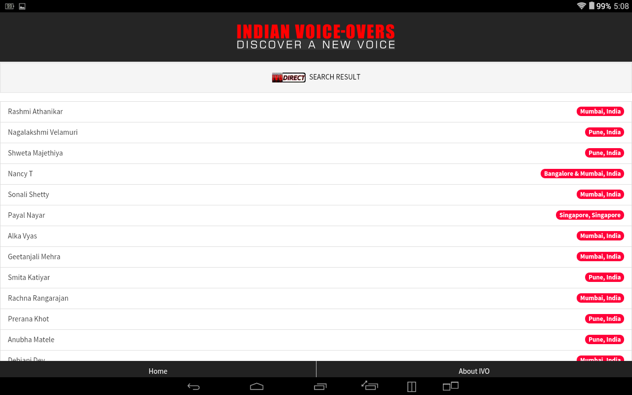 INDIAN VOICE-OVERS- screenshot