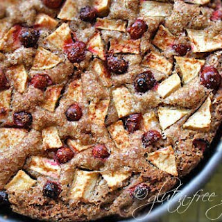 Gluten-Free Apple Cake with Cranberries
