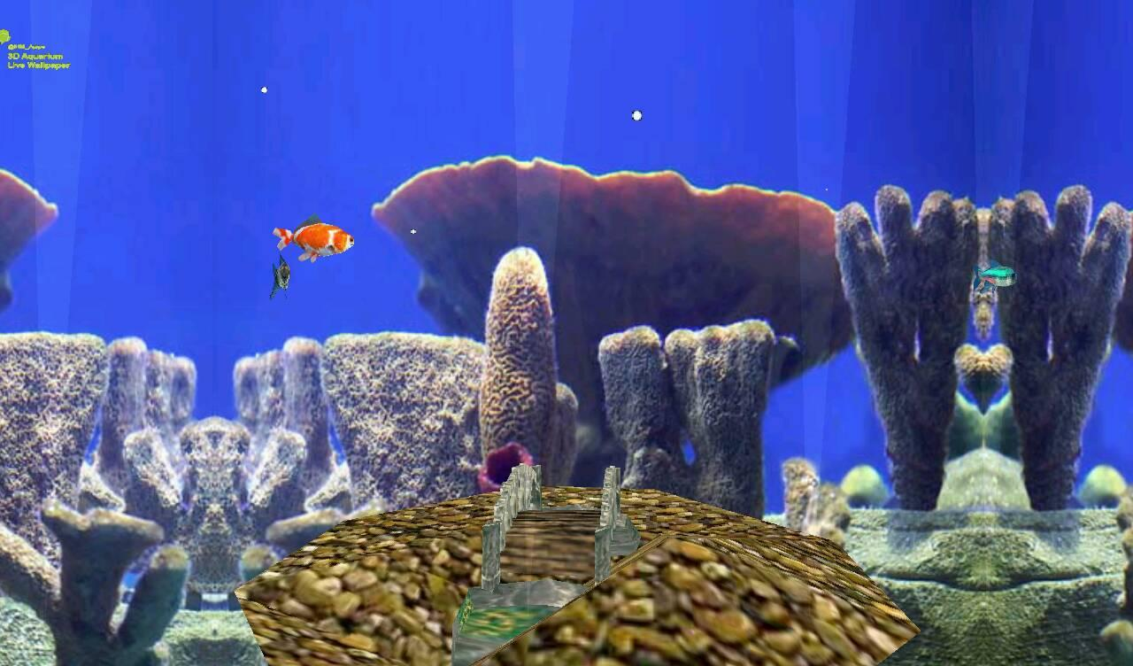 Fish aquarium live wallpaper - 3d Aquarium Live Wallpaper Screenshot