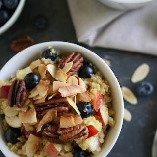 Blueberry & Nectarine Breakfast Quinoa.