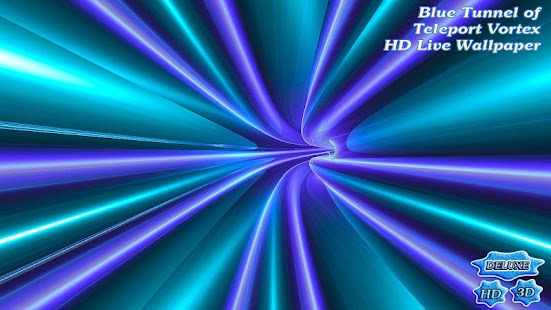 Blue Tunnel of Teleport Vortex- screenshot thumbnail