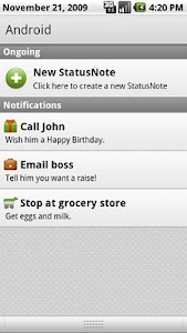 StatusNotes (Status Notes) screenshot 1
