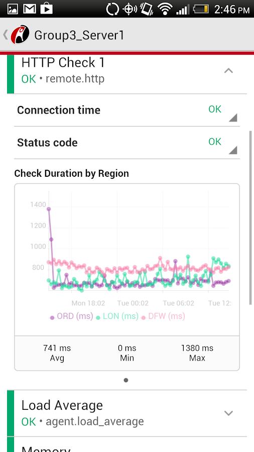 Rackspace Cloud- screenshot