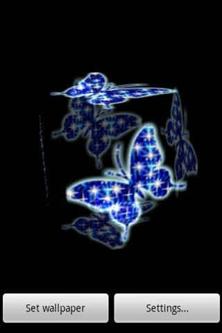 3D Blue butterfly- screenshot