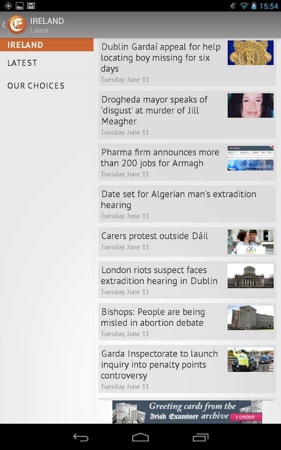 Irish Examiner - screenshot