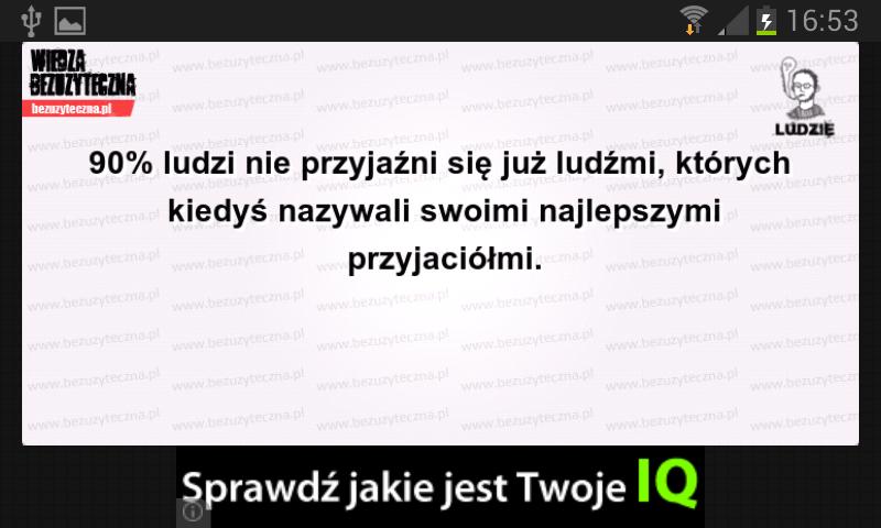 Wiedza bezużyteczna- screenshot