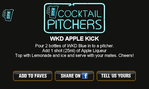 WKD Cocktails - screenshot thumbnail