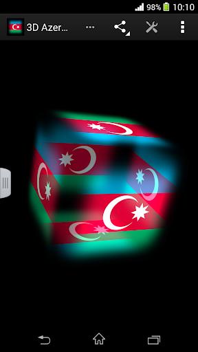 3D Azerbaijan Cube Flag LWP