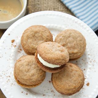 Tiramisu Cookies With Mascarpone Cream Filling.