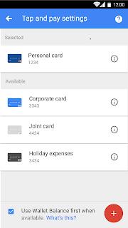 Google Wallet screenshot