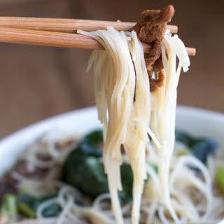 Chinese Mushroom Noodle Soup.