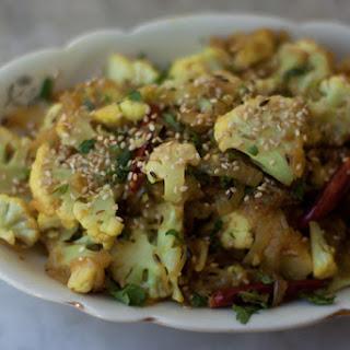 Spicy Cauliflower with Sesame.