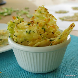 Parmesan Cheese Crisps Laced with Zucchini & Carrots.