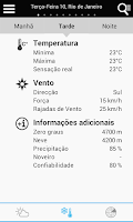 Screenshot of Weather for Brazil