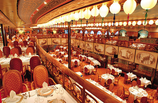 Costa-Mediterranea-Degli-Argentieri - The two-deck Degli Argentieri, Costa Mediterranea's main dining room.