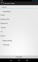 Screenshot of Ping monitor widget