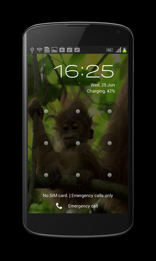 Baby Monkey Live Wallpaper - screenshot