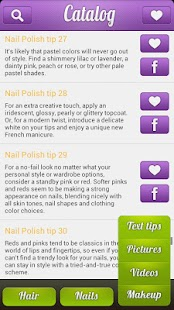 Nail Art & Hairstyle Catalog - screenshot thumbnail
