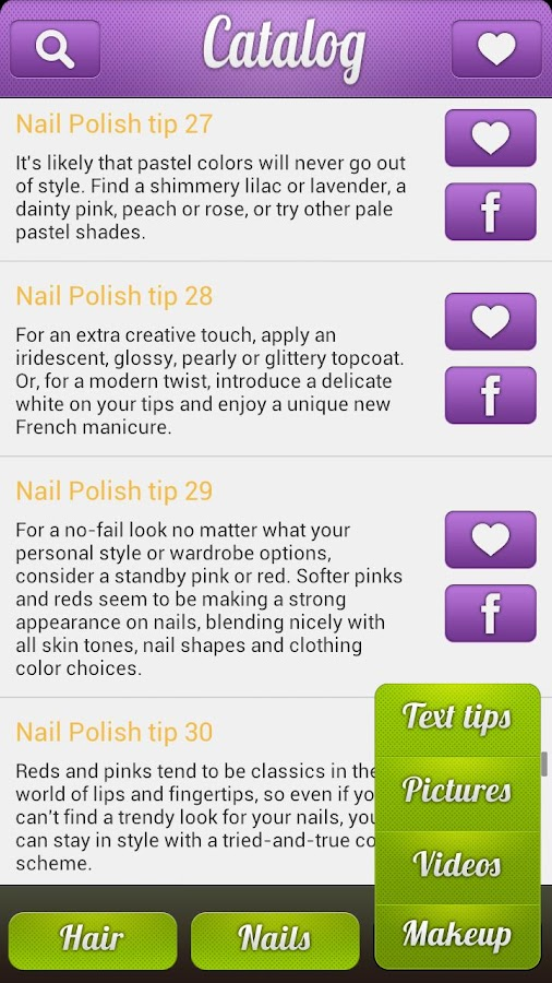 Nail Art & Hairstyle Catalog - screenshot