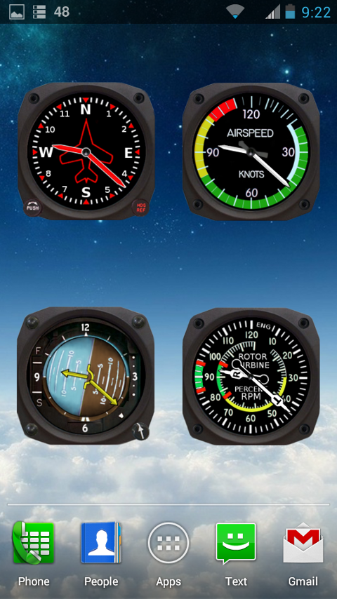 Aviator Clocks - screenshot