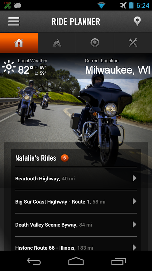 Harley-Davidson Ride Planner - screenshot