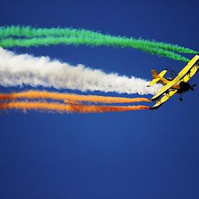 Tri color by Guru Prasad - Transportation Airplanes ( aeroindia, air force, airplane, airshow, air show,  )