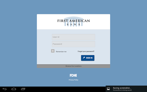 First American Bank Mobile - screenshot thumbnail