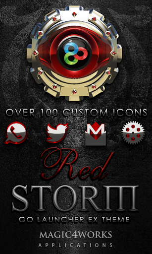 GO Launcher Theme Red Storm