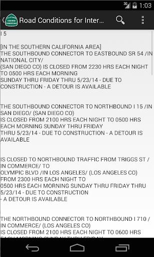 California Highway Conditions