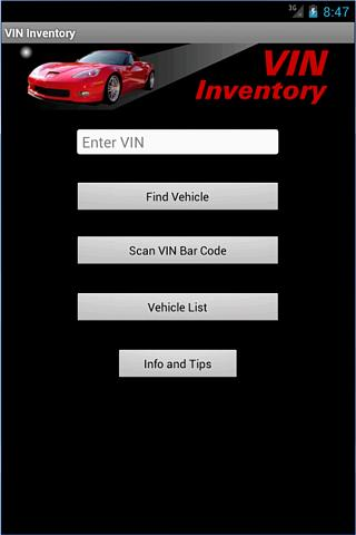 VIN Inventory- screenshot
