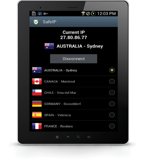 SafeIP Free VPN- screenshot