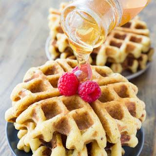 Crispy Whole Grain Honey Cornbread Waffles