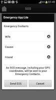 Screenshot of In Case of Emergency ICE-Lite