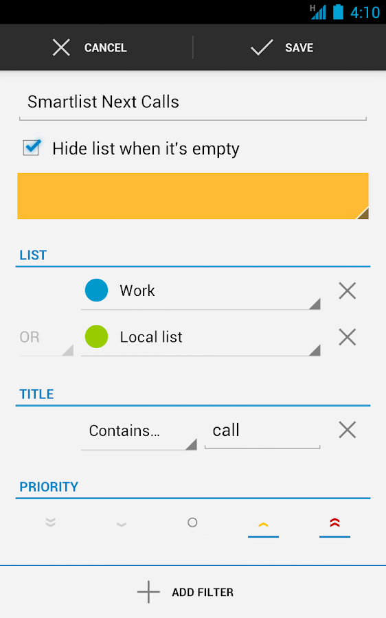 Business Tasks- screenshot