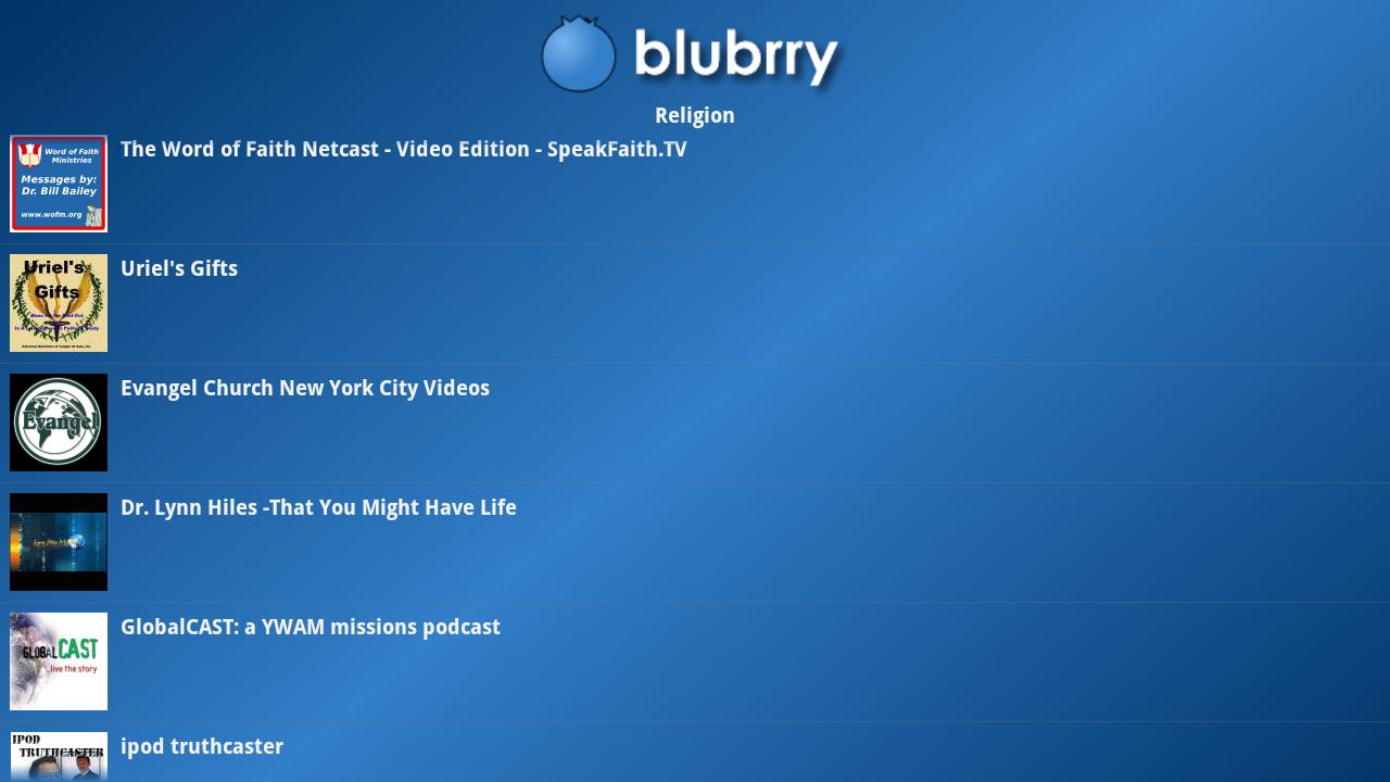 Blubrry Podcasts for Google TV- screenshot