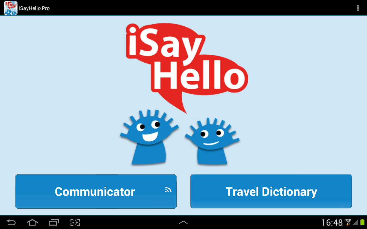 iSayHello Communicator Pro – Screenshot