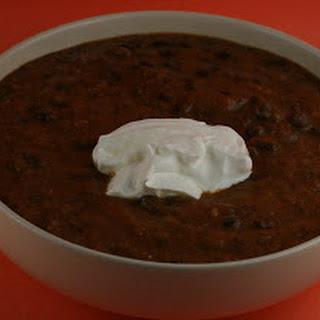 CrockPot Pumpkin Black Bean Soup.