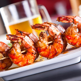Grilled Shrimp with Garlic & Beer.