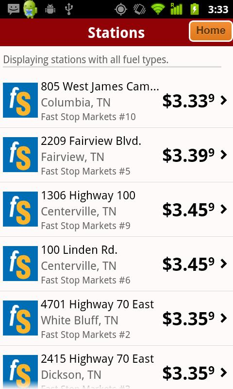 Fast Stop Markets App - screenshot