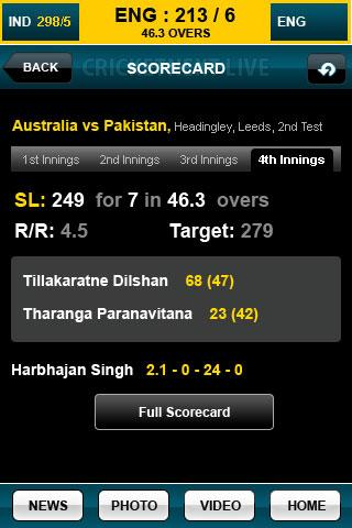 CricketNext Live for Android - screenshot
