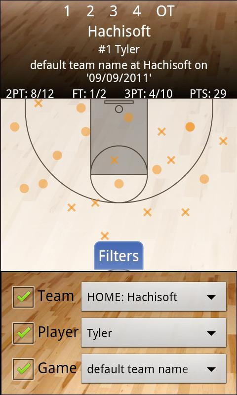 Basketball Shot Chart - screenshot
