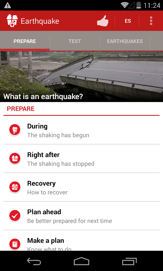 Earthquake -American Red Cross - screenshot