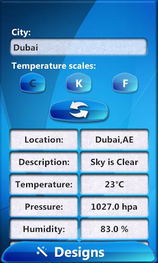 デジタル天気時計ウィジェット