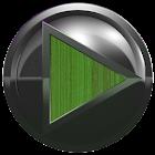 poweramp skin metal green wood icon