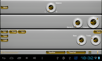 Screenshot of poweramp skin yellow 3d
