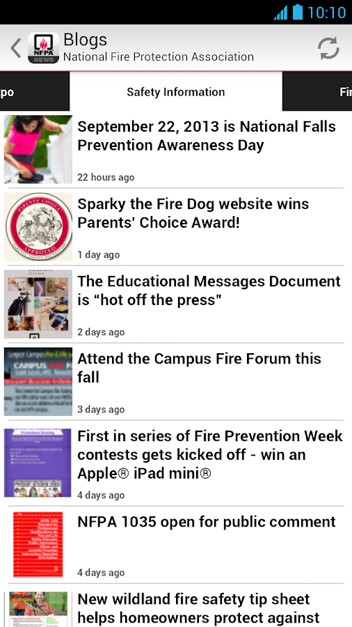 NFPA News - screenshot
