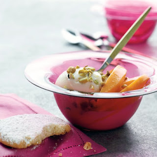 Cardamom Cookies with Frozen Yogurt and Mango