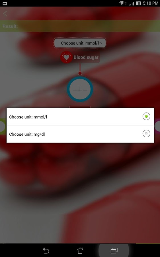 Glucose meter- screenshot