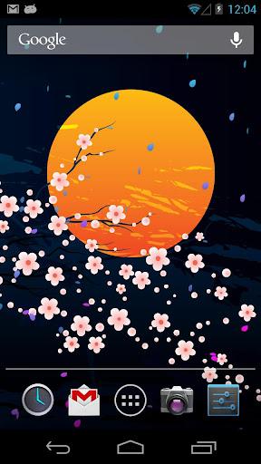 【免費個人化App】Moon&Sakura Live Wallpaper-APP點子