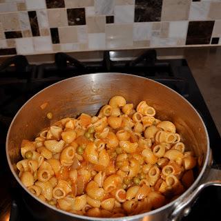 Grandma's Macaroni And Peas.